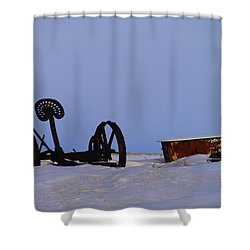 A Bath After Harvest Shower Curtain by Jeff Swan