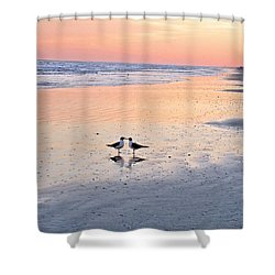 A Beach Romance Shower Curtain