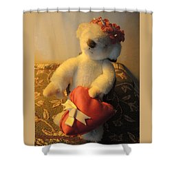A Bear's Love Shower Curtain by Chrissey Dittus