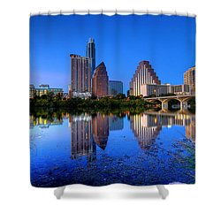 Shower Curtain featuring the photograph A Beautiful Austin Evening by Dave Files