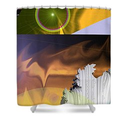 A Beautiful Mad Mad World Shower Curtain by Jeff Swan