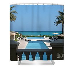 A Beautiful View Shower Curtain by Patti Whitten