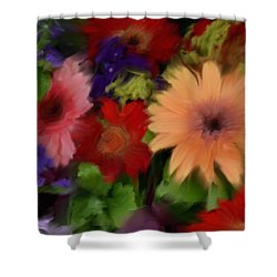 A Bed Of Flowers Shower Curtain