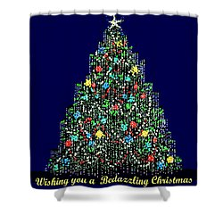 A Bedazzling Christmas Shower Curtain