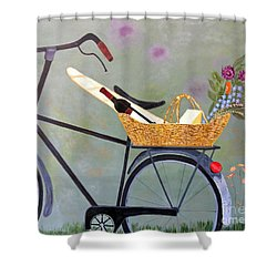 A Bicycle Break Shower Curtain