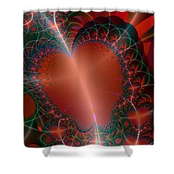 Shower Curtain featuring the digital art A Big Heart by Ester  Rogers