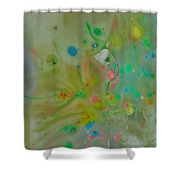 Shower Curtain featuring the photograph A Bird In Flight by Robin Coaker