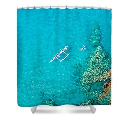 A Bird's Eye View Shower Curtain by Denise Bird
