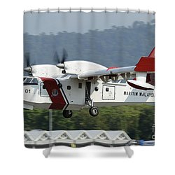 A Bombardier Aerospace Cl-415 Mp Shower Curtain by Remo Guidi