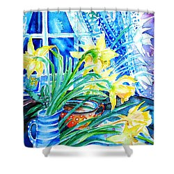A Bouquet Of April Daffodils  Shower Curtain