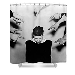 A Boy Is Shamed. Shower Curtain by Underwood Archives