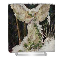 A Breath Of Snow And Ivy,  Highgate Cemetery Shower Curtain