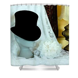 A Bridal Scene Shower Curtain by Terri Waters