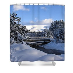 A Bridge In The Snow Shower Curtain