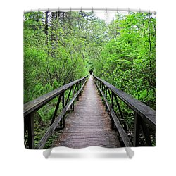 A Bridge To Somewhere Shower Curtain by MTBobbins Photography