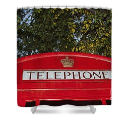 A British Phone Box Shower Curtain