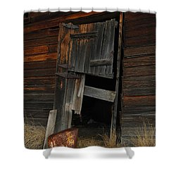 A Bucket And A Door Shower Curtain by Jeff Swan