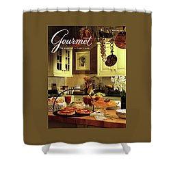 A Buffet Brunch Party Shower Curtain