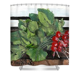 A Bunch Of Radishes  Shower Curtain