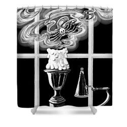 A Candle Snuffed Shower Curtain