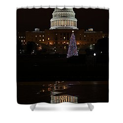 A Capitol Reflection Shower Curtain