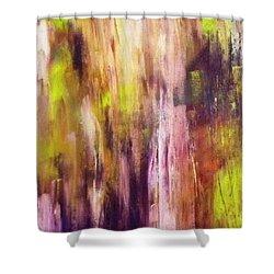 A Cascade Of Hues Shower Curtain by Jagjeet Kaur