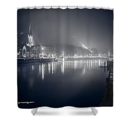 Shower Curtain featuring the photograph A Cathedral In The Mist II by Stwayne Keubrick