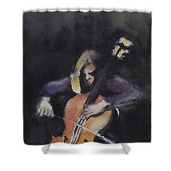 A Cellist Shower Curtain by Yoshiko Mishina