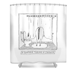 A Centaur Taking A Shower -- The Horse's Rear End Shower Curtain