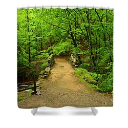 Century Old Stone Bridge Shower Curtain by Bob Sample