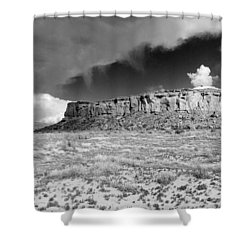 A Chaco Sky 2 Bw Shower Curtain