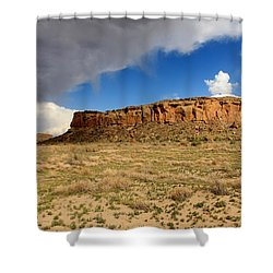 A Chaco Sky 2 Shower Curtain by Elizabeth Sullivan