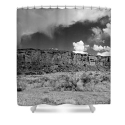 A Chaco Sky Bw Shower Curtain