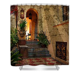 Shower Curtain featuring the photograph A Charleston Garden by Kathy Baccari