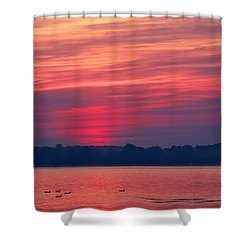 A Chesapeake Bay Sunrise Shower Curtain
