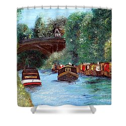 A Cheshire Canal Remembered Shower Curtain
