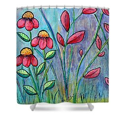 A Child's Garden Shower Curtain by Suzanne Theis