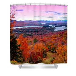 A Chilly Autumn Day On Mccauley Mountain Shower Curtain