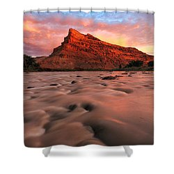 A Chocolate Milk River Shower Curtain