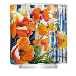 A Choir Of Poppies Shower Curtain