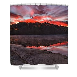 A Christmas Eve Sunrise Shower Curtain