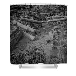 A City Falls Shower Curtain by David Morefield