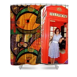 A Classic Chrissy Moment Shower Curtain