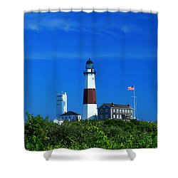 A Clear Day Shower Curtain by Catie Canetti
