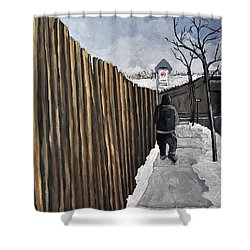 A Cold Day In Pointe St. Charles Shower Curtain by Reb Frost