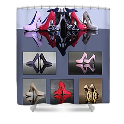 A Collection Of Stiletto Shoes Shower Curtain