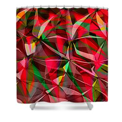Colorful Shapes Blend Shower Curtain