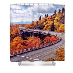 A Colorful Ride Along The Blue Ridge Parkway Shower Curtain