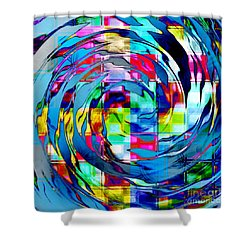 A Colorful Whirl Shower Curtain
