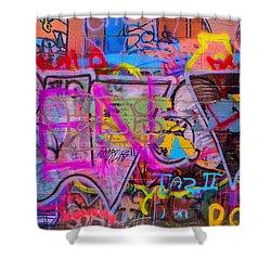 A Colourful Wall. Shower Curtain